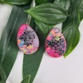 Dream Galazy Teardrop (small) Stud earrings - Handcrafted earrings