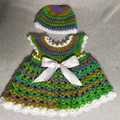 Newborn dress and hat set