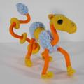 Hordle, a Unique Embroidered Felt Wire Sculpture Creature