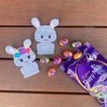 Easter Bunny Finger Puppet Duo - Grey