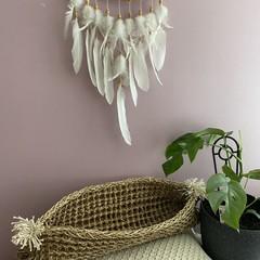 Natural Seagrass Basket / Hamper long