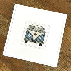 VW Campervan - Blue