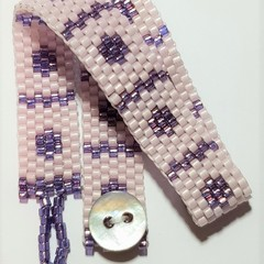 Pale Pink and Lilac Woven Bracelet