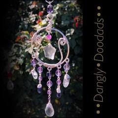 Glass & Semiprecious Stone Small Suncatchers (3 available)