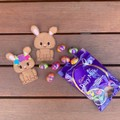 Easter Bunny Finger Puppet Duo - Brown
