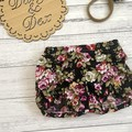 Floral Pucker Shorts, Size 000 00 0 1 2 3 or 4 Baby Girls Bloomers