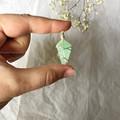 Green Calcite pendant - Silver