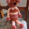 Dani Bear : crochet, toy, safe, OOAK, washable,  baby shower, by CuddleCorner