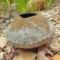 Small Sculpture - Textile Art - Desktop Art - Wool Felt Vessel - Natures Bowl