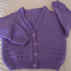 SIZE 5  - Hand knitted cardigan by CuddleCorner, Unisex