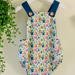 Baby Easter Romper Overalls - size 3 - FREE SHIPPING!