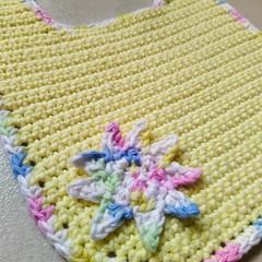 Crochet Baby Bib - small