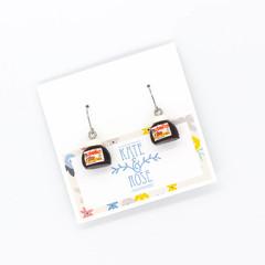 Nutella inspired - Nutella earrings - drop earrings - breakfast earrings
