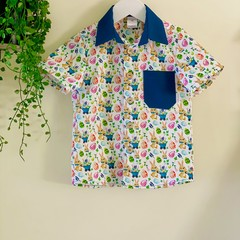 Boy's Easter Button-up Dress shirt - size 5 - FREE SHIPPING!