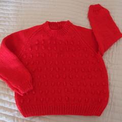 SIZE 5 -6 yrs - Hand knitted jumper  CuddleCorner