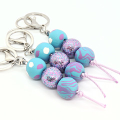 Blue & Purple Keychain / bag charm