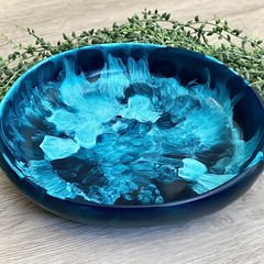 Large Ocean Resin Salad Bowl