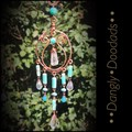 Copper Semiprecious Harp Suncatchers (3 available)
