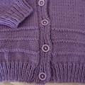 SIZE 5  - Hand knitted cardigan by CuddleCorner, Unisex