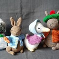 Peter rabbit crocheted toy
