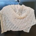 Lacy knitted scarf