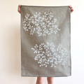 Tasmania's own Nothofagus gunnii screen printed linen tea towel
