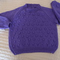 SIZE 6 -7yrs  - Hand knitted jumper  by CuddleCorner, unisex