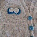 SIZE 3-9 mths - Hand knitted cardigan in  multi color by CuddleCorner