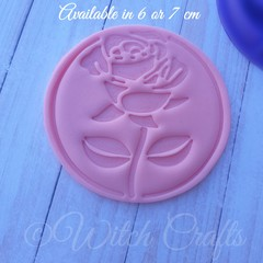 Rose cookie / fondant embosser stamp