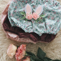 ADELINE BONNET & BLOOMER set, Easter Meadow collection