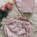 DUSKY DAISIES BONNET & BLOOMER set, Meadow collection