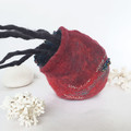 Jellyfish Art - Marine Life Sculpture - Red Jellyfish- table top art