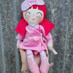 Quinn- handmade doll in Pjs