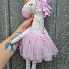 Ursula the unicorn softie, handmade doll