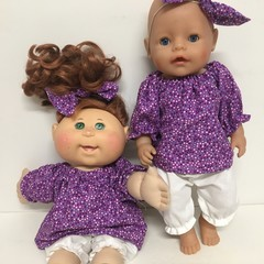 Dolls  Top and Bloomers  to fit Baby Born and Cabbage Patch