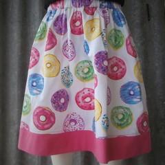 """""""Donuts""""- Girls Novelty Skirt"""