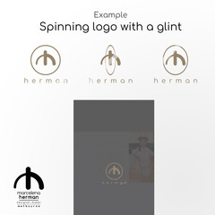 Custom  Animated YOUR EXISTING LOGO -  GIF stickers