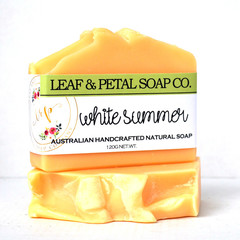 White Summer Natural Vegan Soap
