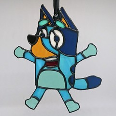 Bluey! // Stained Glass Suncatcher 20x17cm