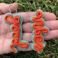Good Vibes Polymer Clay Statement Dangle Earrings