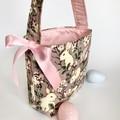 Unique Easter Egg Basket - Vintage Pink