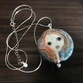 Handmade Glass Lampwork Doll Angel Glass Bead Sterling Silver