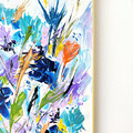 'Call Me Beauty' abstract floral plant life acrylic painting on canvas