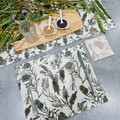 Australian native reversible placemat - NATIVE FLORA - OLIVE GREEN/BEIGE
