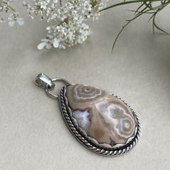 OOAK  - Ocean Jasper and Sterling Silver Pendant