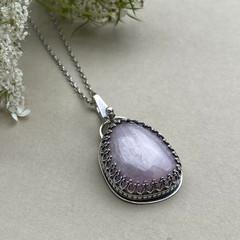 OOAK  - Pink Kunzite  and Sterling Silver Pendant