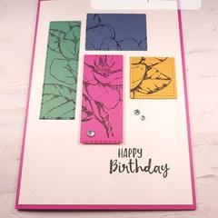 Happy Birthday Colour Block Pink