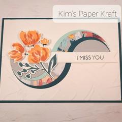 I Miss you Swirl card