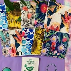 Florals 10 pack face scrubbies