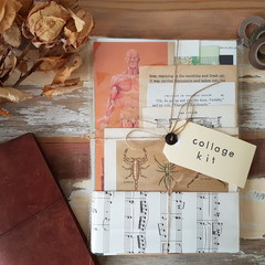 Vintage Ephemera Kit / Junk Journal Kit / Vintage Papers / Collage Papers
